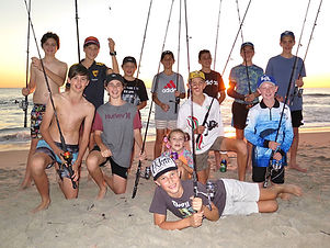 Kids Fishing Party - Group Pic