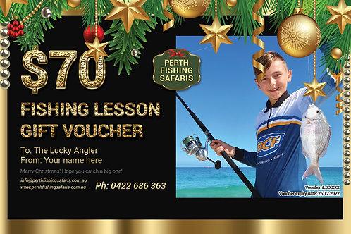 Beach Fishing Lesson Christmas Gift Voucher