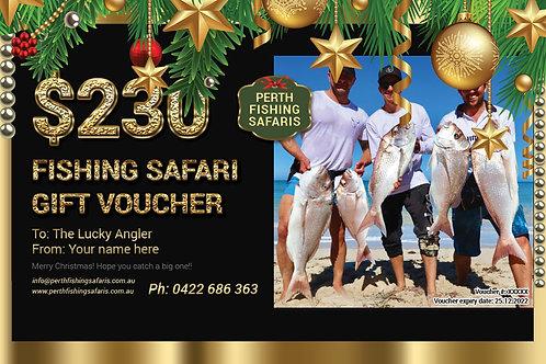 Drone Fishing Safari Christmas Gift Voucher