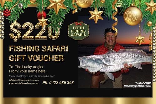 Beach Fishing Safari Christmas Gift Voucher