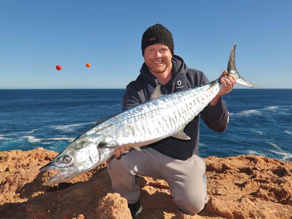 Ballooning for Spanish Mackerel Quobba coast