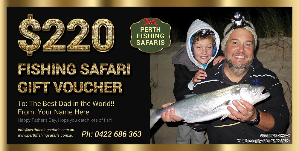Father's Day Fishing Gift Voucher 2018 Perth