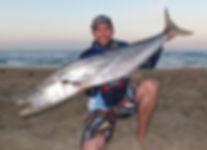 Spanish Mackerel caught Beach Fishing in Perth WA