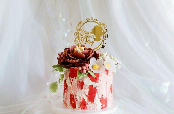 母愛滿溢-糖花蛋糕
