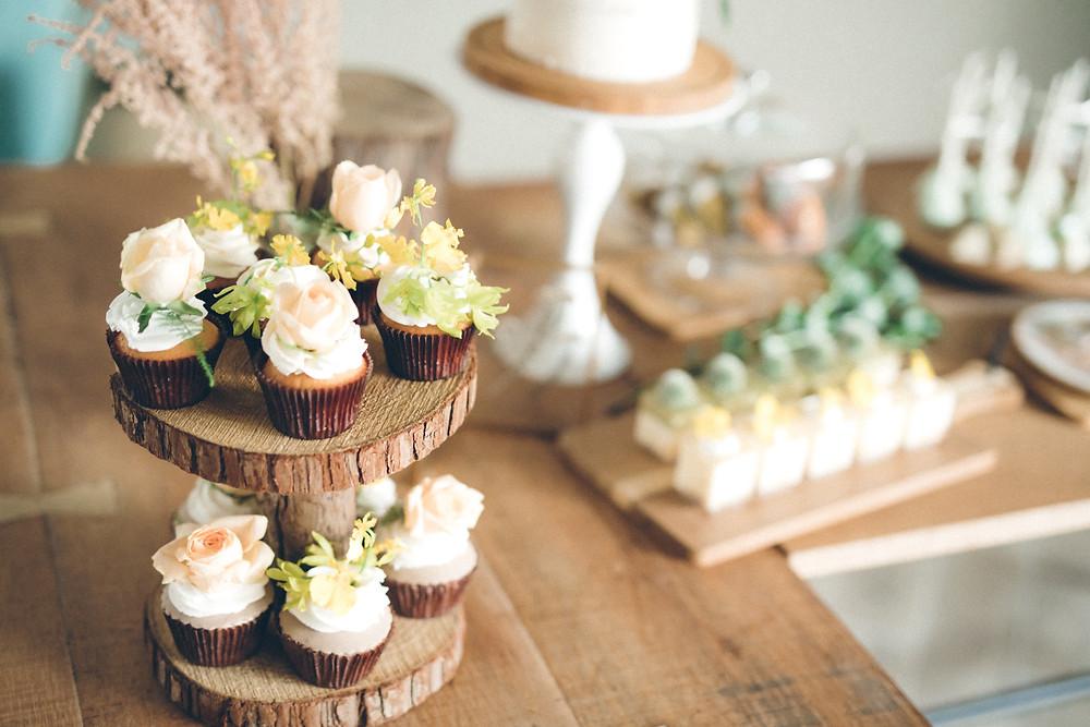 鮮花杯子蛋糕
