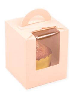 マフィンボックス1個用:ピンク(1枚)