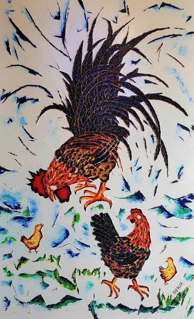 2021 02 20 Coq poule 2poussins 89x116 Expo b.jpg