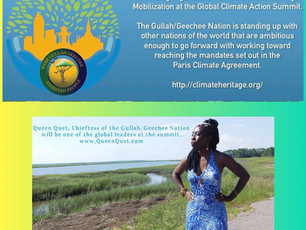Gullah/Geechee Save the Sea Islands Tour Takes Queen Quet to Global Climate Action Summit for Climat