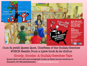 Queen Quet of de #GullahGeechee @USCB fa Read Across American