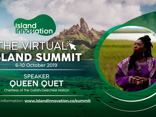 Queen Quet Keynotes at Virtual Island Innovations Summit