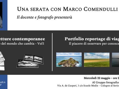Prossima serata - Al Gruppo fotografico A4 - Cologno al Serio (BG)