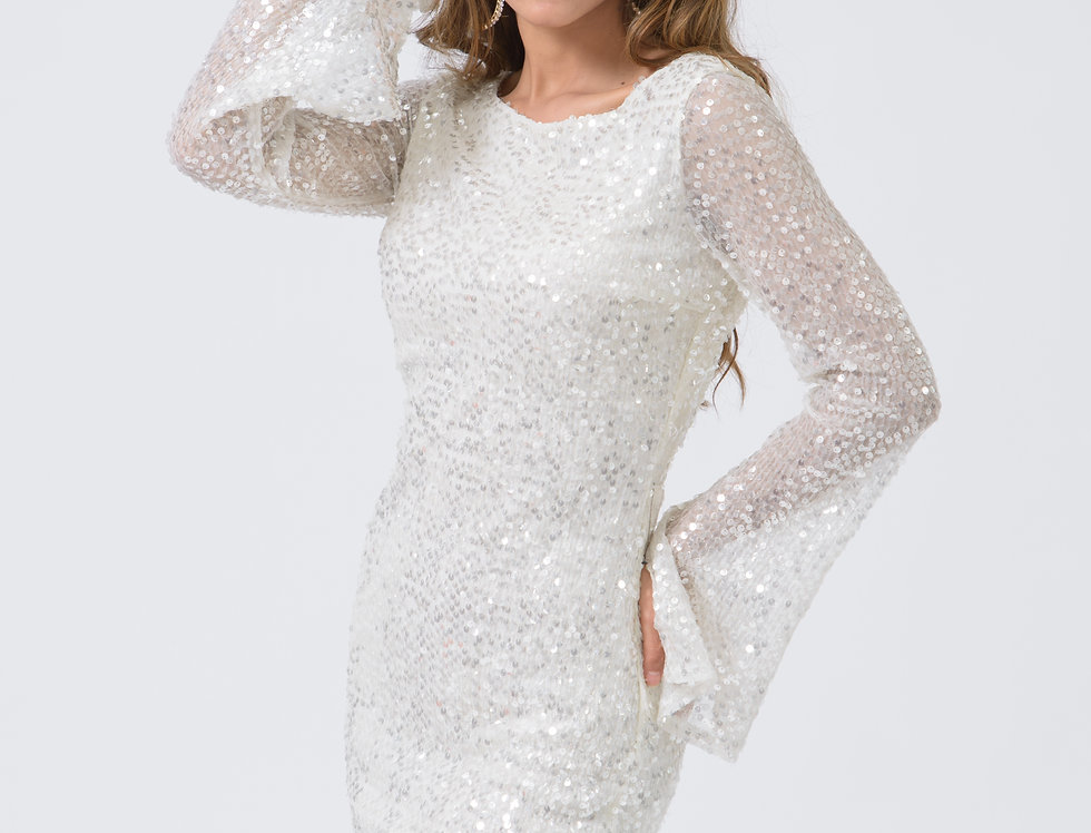 Vestido de Lentejuela Blanco