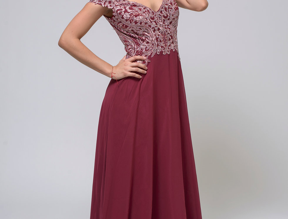 Vestido Tinto Largo