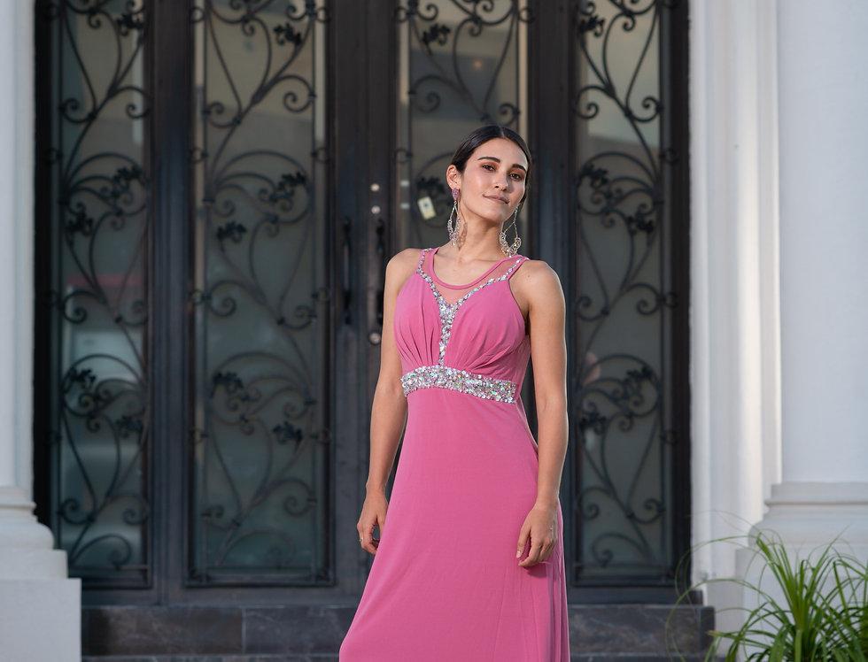 Vestido Rosa con Piedras