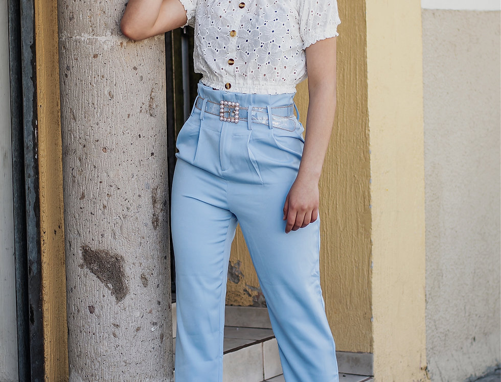 Pantalón de Vestir Azul Cielo