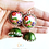 Thumbnail: The Green enchantress polymer earrings with Quilled jhumkas