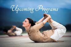 Upcoming programs