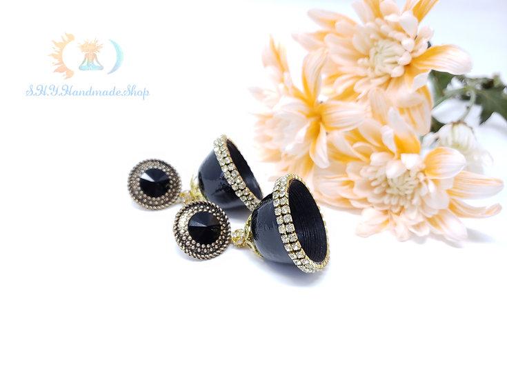 The Black Seduction Jhumka/Set with FREE Ring