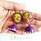 Thumbnail: Purple Queen Polymer earrings with Quilled Jumka