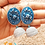 Thumbnail: Indo-European love Polymer Quilled Jhumka Earrings