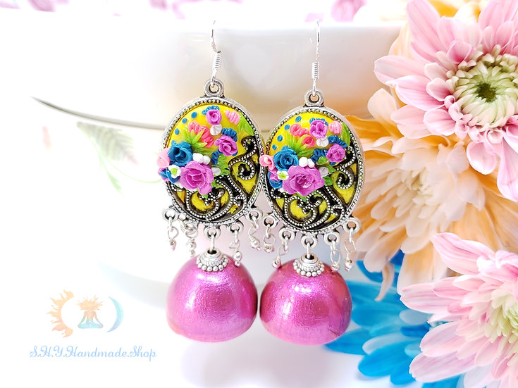 The Regal Date- Polymer with Quilled Jhumka Earrings
