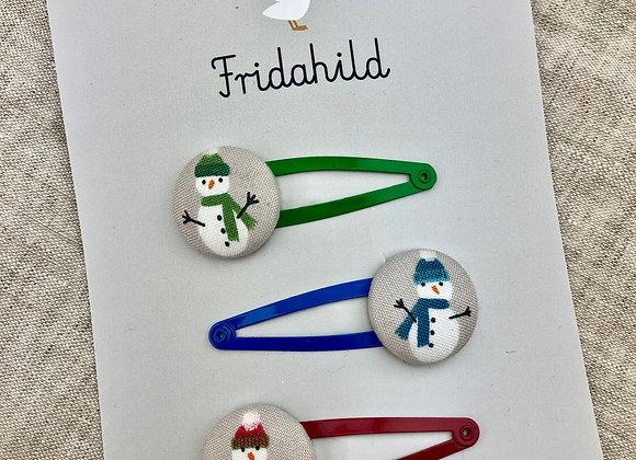 Spangen Set Schneemänner