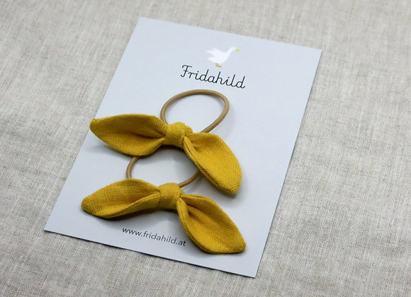 Knotenschleife gelb