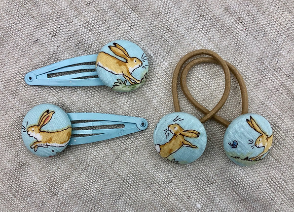 Spangen Hasenfamilie (hellblau)