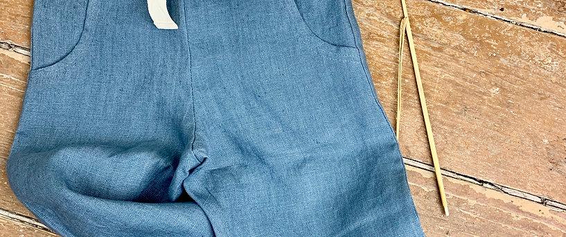 Lange Hose Leinen blau