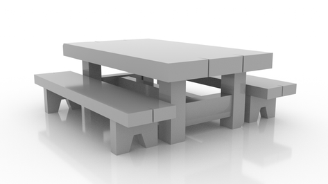 Large Table & Benches