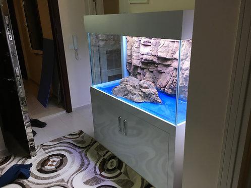 130 cm 3D Akvaryum Demirli