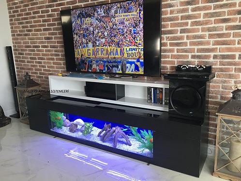 Tv Ünitesi Akvaryumu Cam 160 Cm