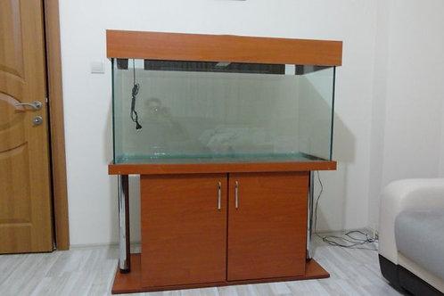 130x50x60h Mobilyalı Krom Bacaklı Akvaryum