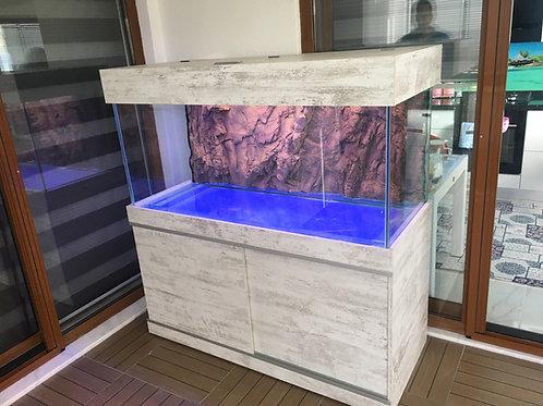 140 cm 3D Akvaryum Demirli