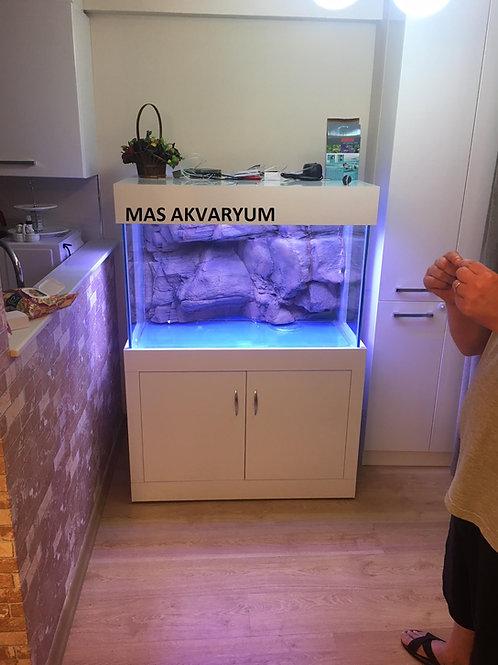 3D 120 cm lik Mobilyalı Akvaryum demirli
