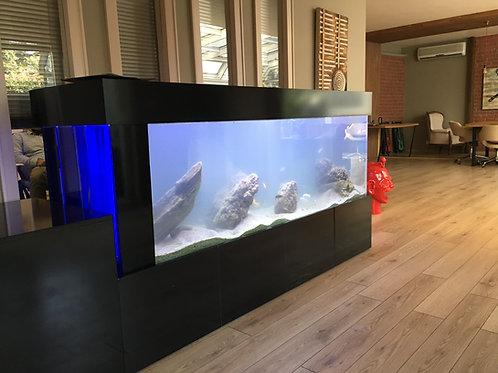 150 cm Mobilyalı Akvaryum Dış Fitre yanda