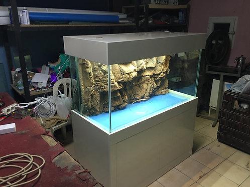 120 cm  arkadan Sumplu Akvaryum Demirli