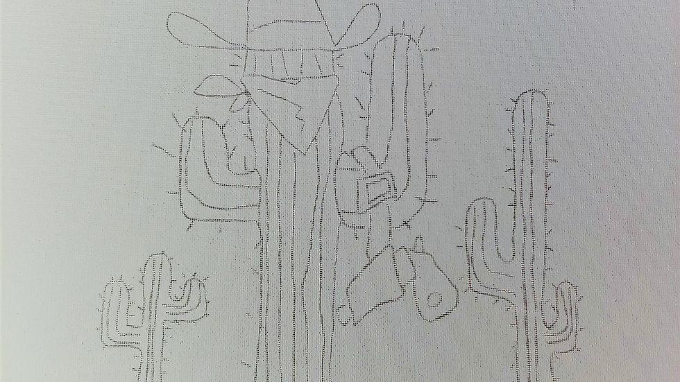 Cactus Cowboy Canvas