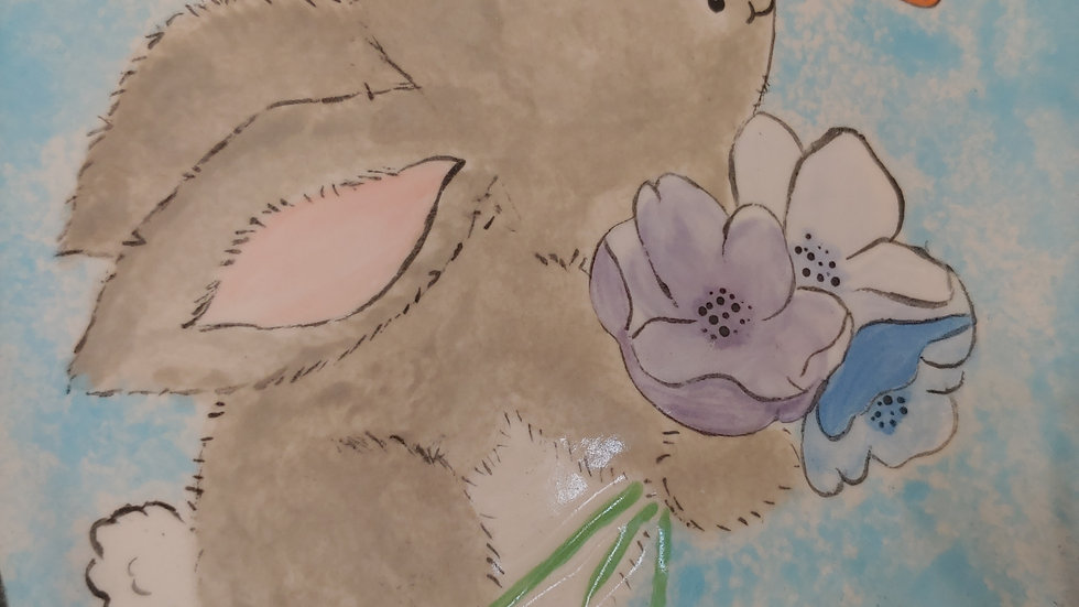 Bunny with Butterfly Canvas
