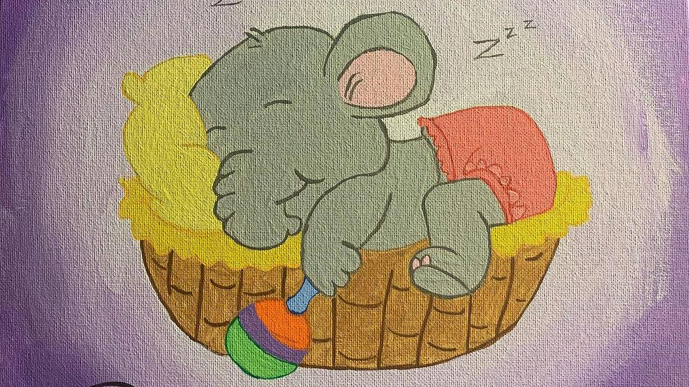 Baby Elephant Canvas