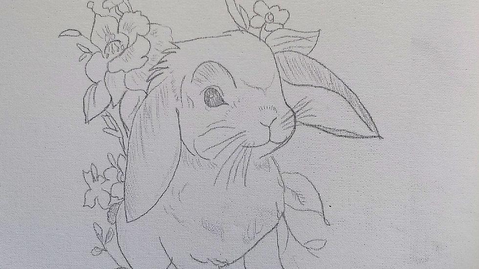 Lop Bunny Canvas