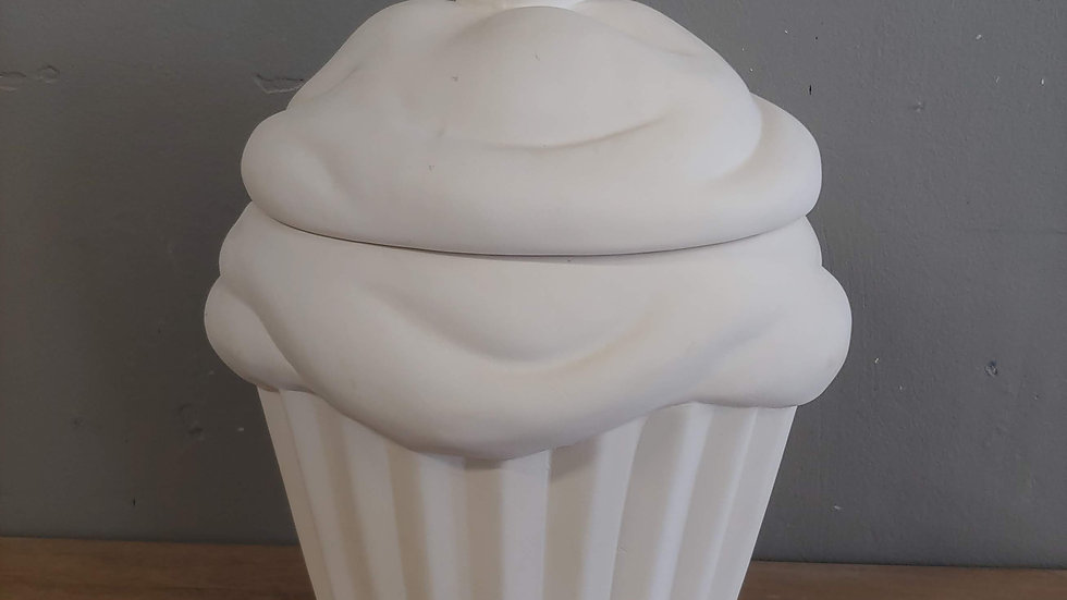 Large Cupcake Cookie Jar