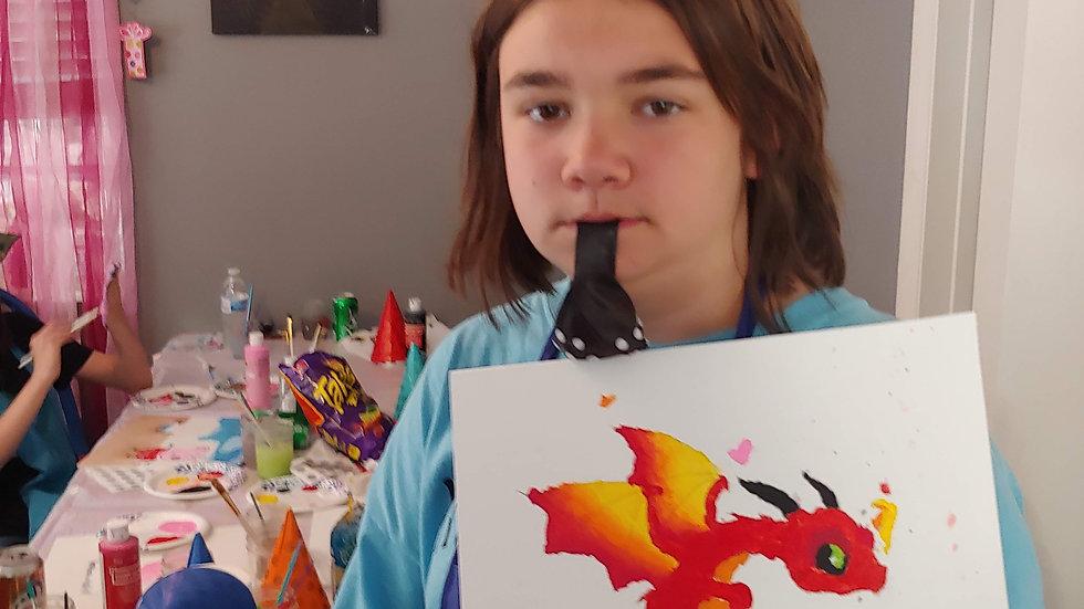 Dragon B Canvas