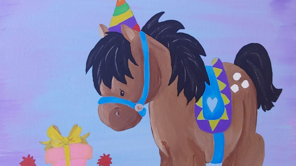 Birthday Pony Canvas