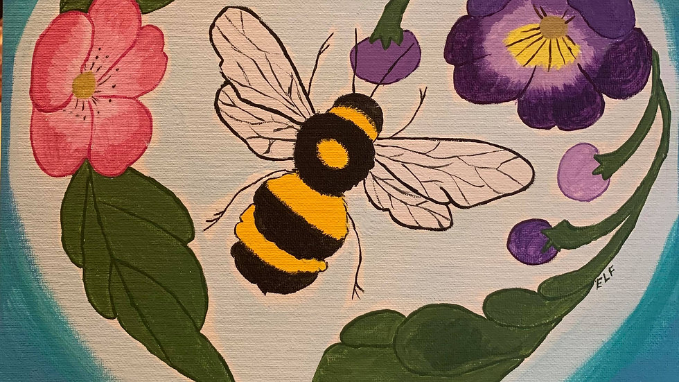 Bee Love Canvas