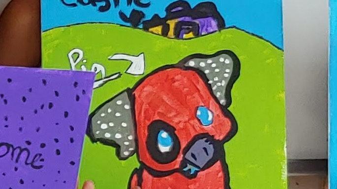 Pig on the Farm Canvas