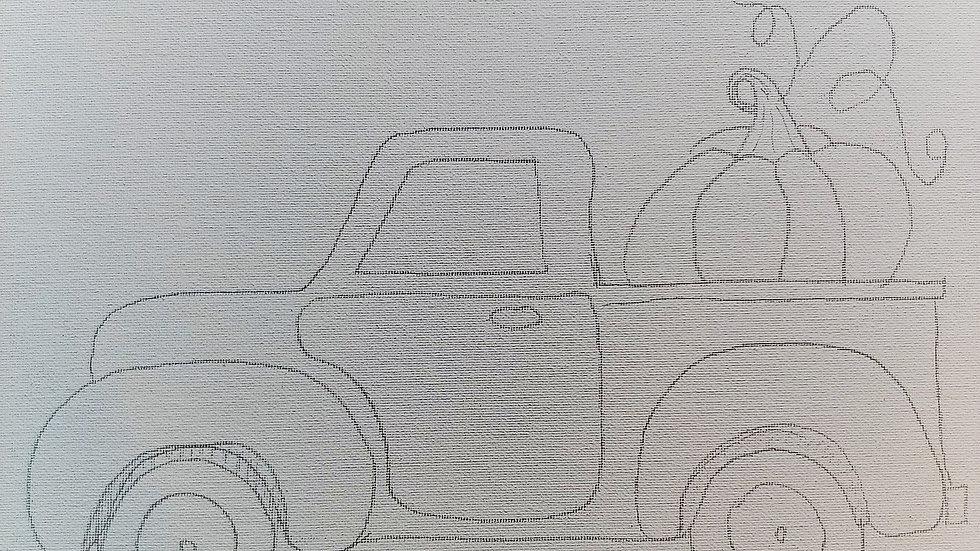 Truck with Pumpkin
