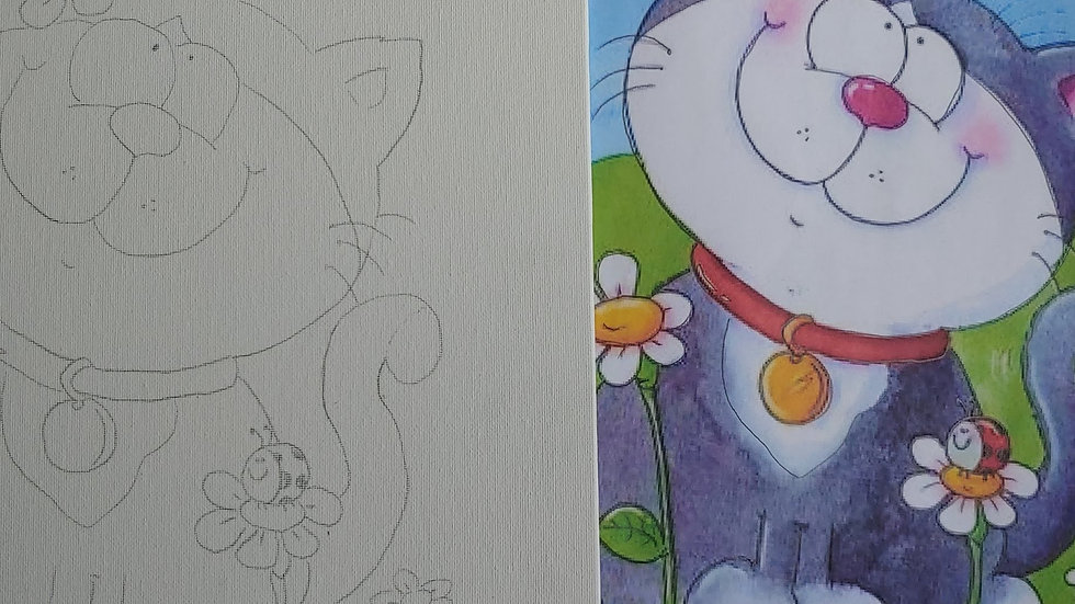 Sam the Cat Canvas