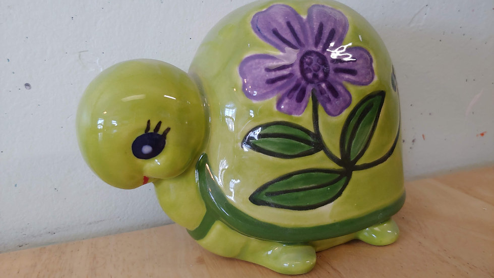 Turtle with Flowers