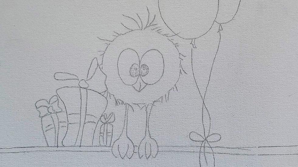 Party Bird Canvas